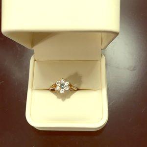 Snowflake ring silver